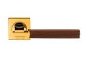 Фурнитура для дверей - Linea Cali -  - ELLE OZ/MA золото глянцевое/коричневая кожа 1051/093